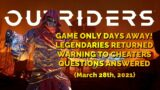 OUTRIDERS | NEWS UPDATE | LEGENDARY ITEMS