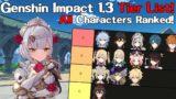 The Genshin Impact 1.3 Update Character Tier List! All Characters Ranked! (Genshin Impact)
