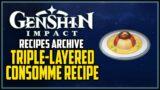 Triple-Layered Consomme Recipe Genshin Impact