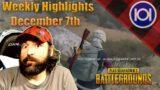 Weekly Highlights – Xbox Series X PUBG – Week of Dec 7th