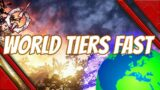 outriders how to level world tiers fast