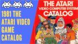 1981 Atari Console & Video Games Catalog – 1980's Retro Gaming