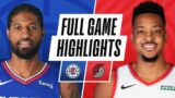 CLIPPERS at BLAZERS   FULL GAME HIGHLIGHTS   April 20, 2021