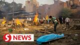 Drone footage shows non-stop mass cremations in New Delhi