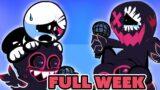 FRIDAY NIGHT FUNKIN' mod EVIL BOYFRIEND vs Corrupt Skid n Pump FULL WEEK!