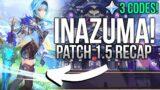 GENSHIN IMPACT teases Inazuma! Patch 1.5 Official Live Stream Recap + Free Primogem Codes!