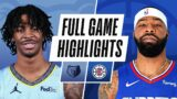 GRIZZLIES at CLIPPERS   FULL GAME HIGHLIGHTS   April 21, 2021