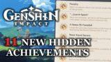 [Genshin Impact] 11 New Hidden Achievements added in 1.3