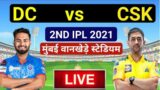 LIVE Cricket Scorecard CSK vs DC   IPL 2021 – 2th Match