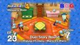 Mario Party 4 SS2 Minigame Mode EP 23 – Duel Round Match 7 Waluigi VS Daisy , Mario VS Wario