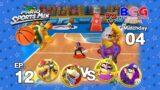 Mario Sports Mix Basketball EP 12 Match 04 Bowser+Bowser Jr. VS Wario+Waluigi