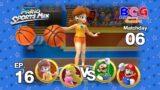 Mario Sports Mix Basketball EP 16 Match 06 Daisy+Peach VS Luigi+Mario