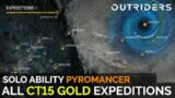 Outriders – All Expeditions Challenge Tier 15 Gold (Solo Pyromancer Ability Build)