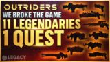 Outriders DO THIS NOW! 11 Legendaries For 1 Quest – MAJOR Bug After First Patch