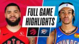 RAPTORS at THUNDER   FULL GAME HIGHLIGHTS   March 31, 2021