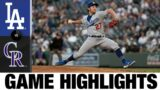 Rockies vs. Dodgers Game Highlights (4/2/21) | MLB Highlights