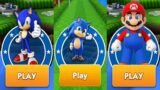 Sonic Dash – Gameplay Walkthrough – Sonic Vs Super Mario Run Vs Baby Sonic