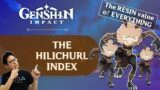 The Hilichurl Index [The Resin Value of Everything][Genshin Impact]
