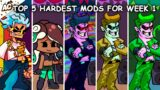 Top 5 hardest mods for Week 1 – Friday Night Funkin'