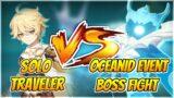 Traveler VS Oceanid Event Boss Fight (Rhodeia's Rage Challenge, Endora Genshin Impact Event Guide)