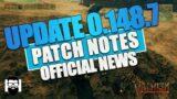 Valheim – UPDATE 0.148.7 PATCH NOTES – OFFICIAL NEWS