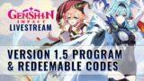 Version 1.5 Special Program | CN Announcement Livestream | Genshin Impact