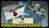 Windblume Research Report Quest Guide in Genshin Impact All Picture Locations