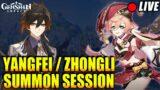 Yanfei / Zhongli summoning / review session   $2000 ready   Genshin Impact