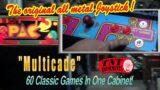 #1651 Black Multicade in Ms Pacman Arcade Video Game cabinet plays 60 classics! TNT Amusements