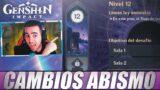 """CAMBIOS en el """"NUEVO ABISMO"""" – Genshin Impact"""
