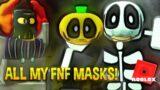 #FNF MASKS in #ROBLOX FNAF NEW SKIN ROLE PLAY! azaotl #shorts #BLENDER