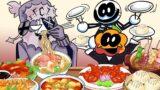 FRIDAY NIGHT FUNKIN CHINESE FOOD Mukbang- FNF ANIMATION MUKBANG