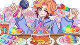 FRIDAY NIGHT FUNKIN' Senpai vs Rainbow Dessert   Mukbang – FNF ANIMATION MUKBANG