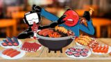 FRIDAY NIGHT FUNKIN' Tankman Vs Whitty Seafood  Mukbang – FNF ANIMATION MUKBANG