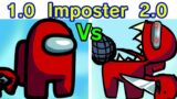 Friday Night Funkin' 1.0 VS 2.0 Imposter (Among Us Edition) [HARD FNF MOD] [VS Imposter]