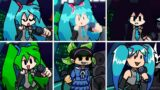 Friday Night Funkin' – Popipo but everytime it's Miku turn a Different Skin Mod is used