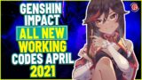 GENSHIN IMPACT ALL NEW WORKING  CODES FOR APRIL 2021 | GENSHIN IMPACT PROMO CODES  APRIL 2021.