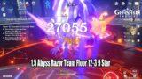 Genshin Impact – 1.5 Abyss Floor 12-3 Razor Team 9 Star Gameplay – C5 Serpent Spine R3