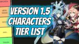 Genshin Impact Version 1.5 Character Tier List !!
