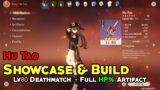 Hu tao Build : Lv80 Deathmatch, Sands/Goblet/Circlet Full HP% – Genshin Impact