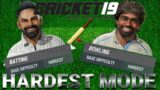 Legend AI with Hardest difficulty mode – Cricket 19 live stream