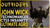 OUTRIDERS   Close Range CT15 Mayhem JOHN WICK STYLE! – Crazy Agro & Sustain (Outriders Build Guide)