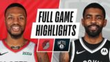 TRAIL BLAZERS at NETS | FULL GAME HIGHLIGHTS | April 30, 2021