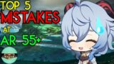 Top 5 Mistakes I see AR 55+ Players Make ALL THE TIME | Genshin Impact