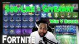 Fortnite Live Stream Giveaway Like + Sub