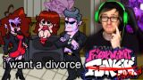 Friday night funkin' but mommy and daddy get a divorce so sad