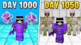 I Survived 1,050 Days in HARDCORE Minecraft…