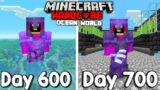 I Survived 700 Days Of Hardcore Minecraft, In an Ocean Only World…