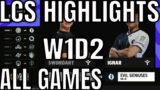 LCS Highlights ALL GAMES W1D2 Summer 2021