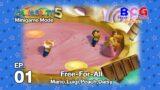 Mario Party 5 SS2 Minigame Mode EP 01 – Free for All Mario,Luigi,Peach,Daisy